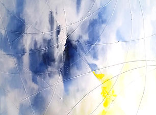 Webs series by artist, Bojana Randall | acrylic, canvas