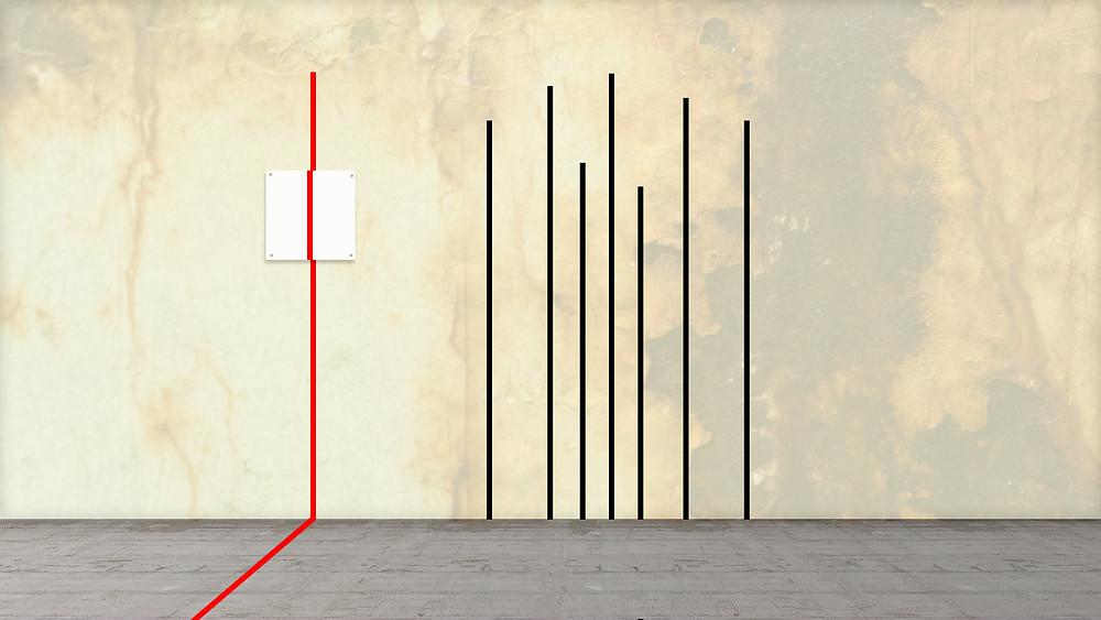 minimalistic art mural