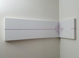 Reaching | multidimensional minimal paintings by Bojana Randall | Swarovski crystals