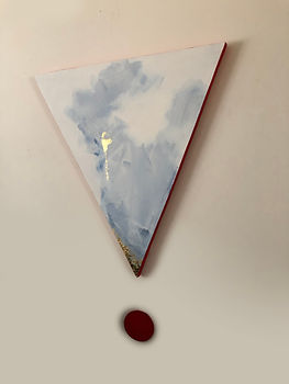 Triangulation | acrylic and gold leaf on board | Bojana Randall, artist