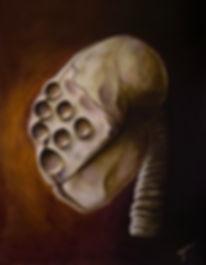 Verspi | Original alien skull painting by Bojana Randall