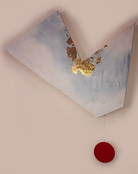 Impact | acrylic and gold leaf on board | Bojana Randall, artist