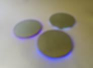 The Blues Have It (2020) | mirrors, acrylic, LEDs | floor sculptures by artist, Bojana Randall | light art
