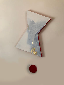 Baby Steps | acrylic and gold leaf on board | Bojana Randall, artist