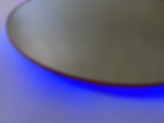 Bleu (2020) | mirrors, acrylic, LEDs | floor sculptures by artist, Bojana Randall | light art