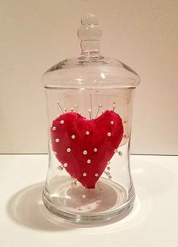 Pin Cushion | Jar of Hearts sculpture series by Bojana Randall