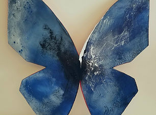 Oblivion | abstract butterfly wall sculpture painting by Bojana Randall