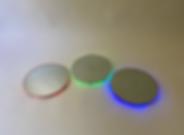 RGB (2020) | mirrors, acrylic, LEDs | floor sculptures by artist, Bojana Randall | light art