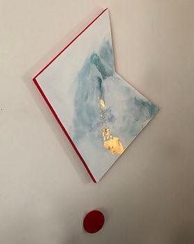 Vortex | acrylic and gold leaf on board | Bojana Randall, artist