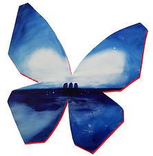 More | abstract butterfly wall sculpture painting by Bojana Randall