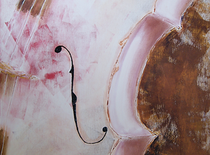 Muzika II is a musical instrument-inspired series of paintings by visual artist, Bojana Randall