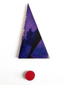 Ribbon | Pendulums: Part One | wall sculpture/ painting by artist, Bojana Randall