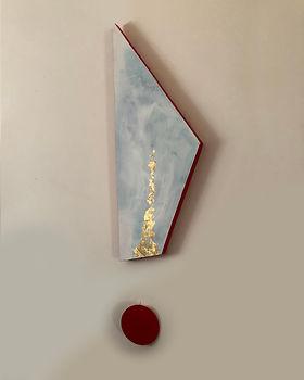 Waltz | acrylic and gold leaf on board | Bojana Randall, artist