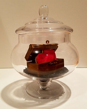 Treasure Chest | Jar of Hearts sculpture series by Bojana Randall | treasured heart