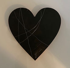 Touched (dark side) | wood, acrylic | touchable sculpture by artist, Bojana Randall | herat art, web art