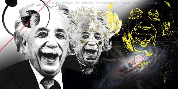 The Lighter Side | digital collage of Einstein by Bojana Randall
