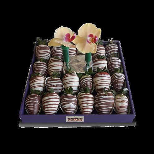 Fresas con Chocolate & 2 Orquideas