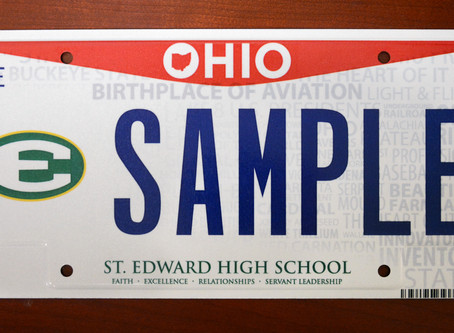 Show Your School Pride With An Official St. Edward License Plate!