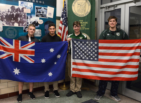 St. Edward Welcomes Australian Exchange Students Tate Kemeny and Jayden Raber