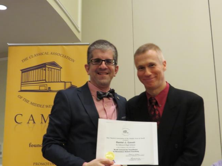 Mr. Daniel Cavoli Awarded Eunice E. Kraft Teaching Award