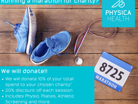 Running a marathon for Charity? We'll Donate!!