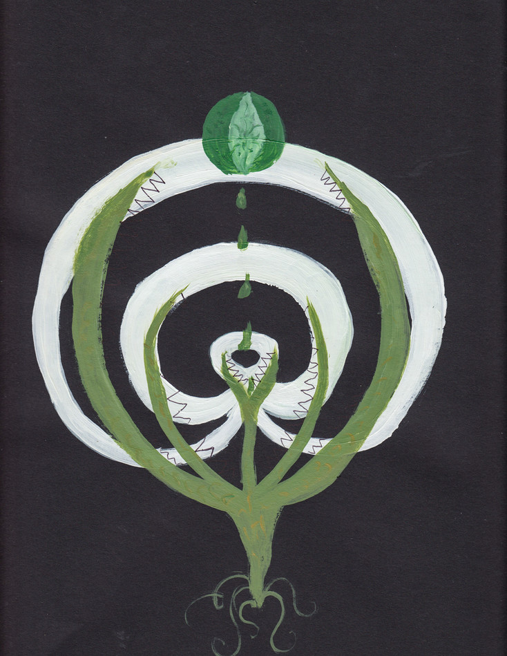 Plant-hand-spiral series 12