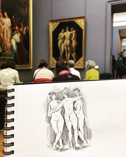 The Three Graces, at Musee Louvre