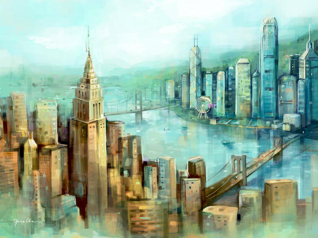 Elaine Chiu's Art   Hong Kong x NYC Cale