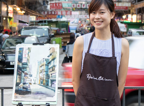 NONAGON.style: Young Artist Captures Quick City Spirit with Her Paintbrush