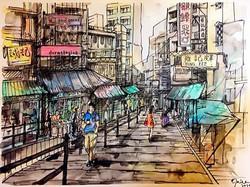 The Pottinger Street 石板街