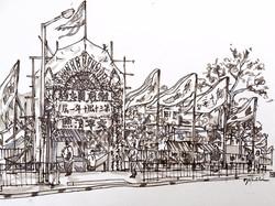 太平清醮 (On Location Sketch)