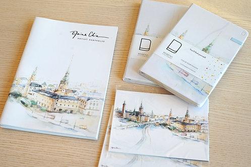 Stockholm Skyline Notebook