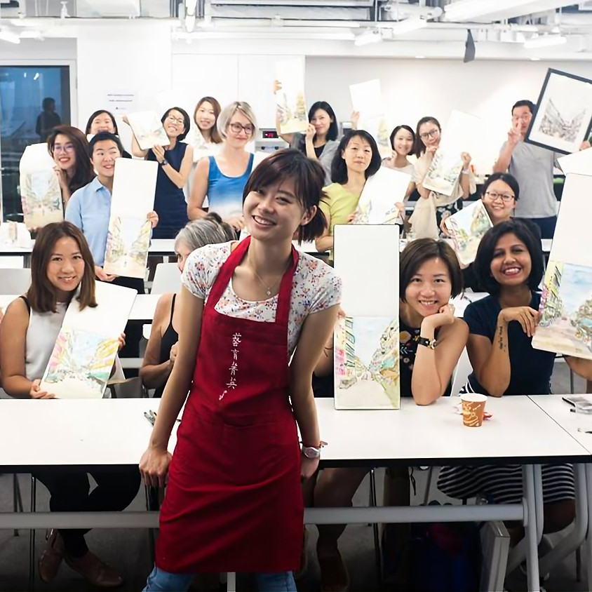 24th May | Elaine Chiu's Beginners Cityscape Sketch Workshop for Adults @theDesk
