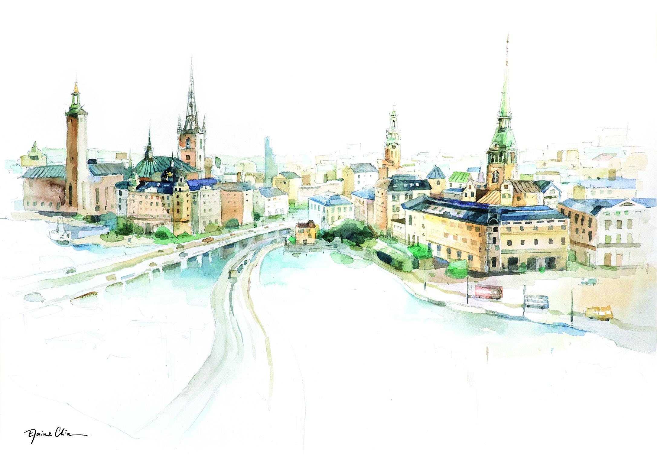 Stockholm Skyline 斯德哥爾摩海岸線