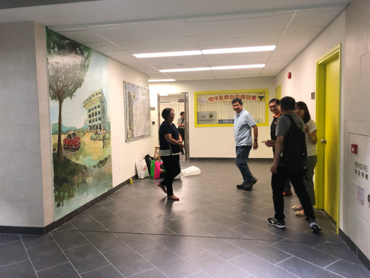 Wanchai Scout Centennial Building Mural Painting 灣仔童軍總會壁畫