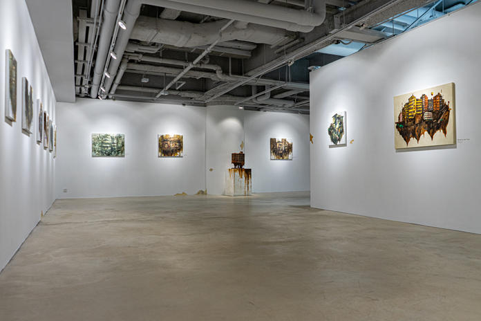 Install view from solo exhibition Before Memories Expire, 2021, JPS Gallery