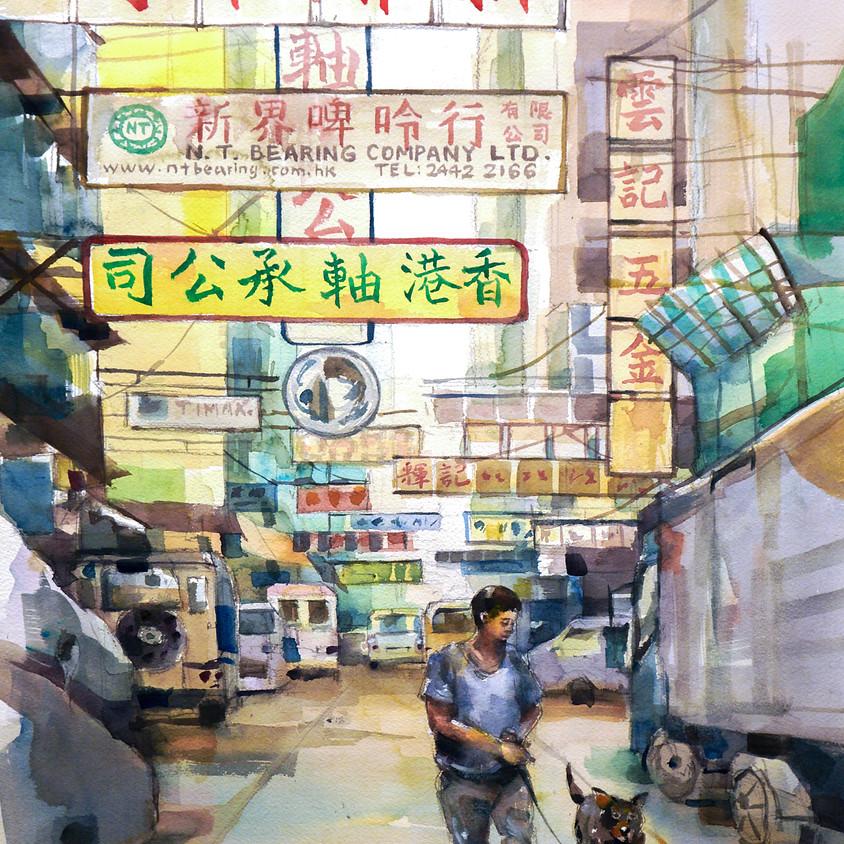 3/11 & 10/11 Mongkok outdoor sketching class 旺角街頭寫生