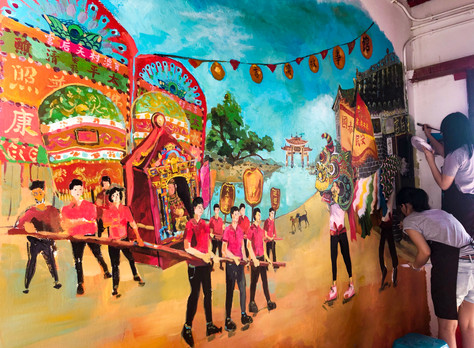 HK GeoPark: Kat O Story House Mural Project (UNESCO site)