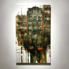 The Dragon House 龍慶堂, 2021, Acrylic on canvas, 81.5 by 49 cm