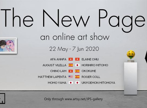 """""""The New Page"""" an Online Art Show by JPS Gallery"""