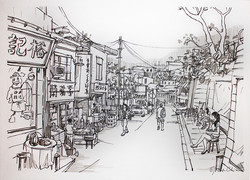 深井 (On Location Sketch)