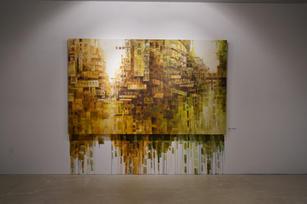 Urban Fabrics 城市紋脈, 2020, Acrylic on canvas,152 by 250 cm