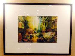 觀趙綺婷水彩畫 香港中西區風情明天可曾還有嗎?