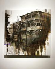 Shek Kip Mei Road ⽯硤尾道, 2021, Acrylic on canvas, 65 by 65 cm