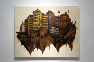 Reimagining San Po Kong 幻想新蒲崗, 2021, Acrylic on canvas, 82 by 102.8 cm