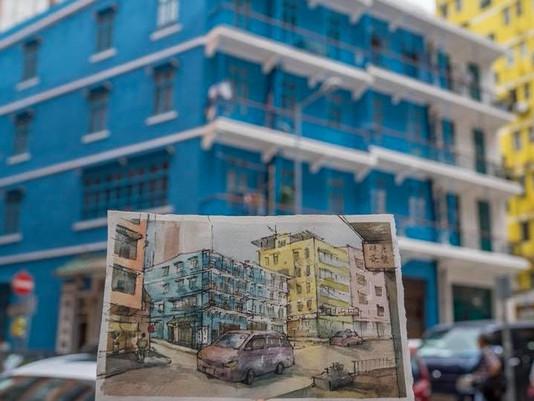 HK01:【唔用相機】擦身而過的街道 拎起畫筆藍屋寫生