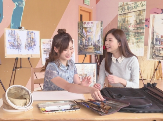 TVB Art and Culture Magazine《藝文誌》街頭水彩畫家趙綺婷