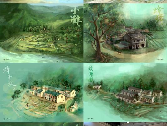 Hong Kong GeoPark x UNESCO Hing Chun Yeuk: Seven Villages 慶春約七村繪畫