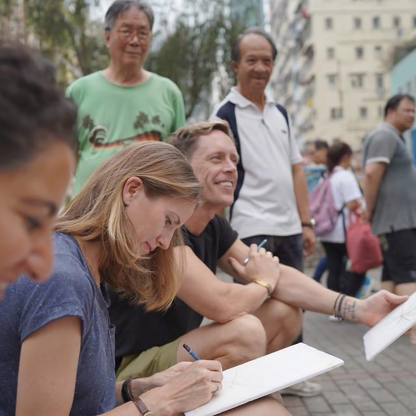 Sketching Sham Shui Po English Class