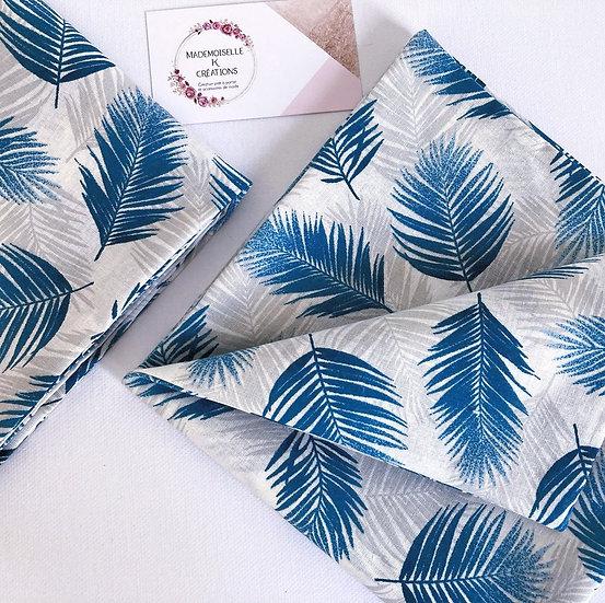 serviettes de table doublées